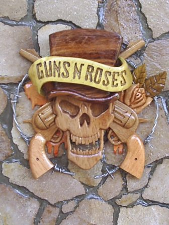 Adorno de pared de Guns N´ Roses.